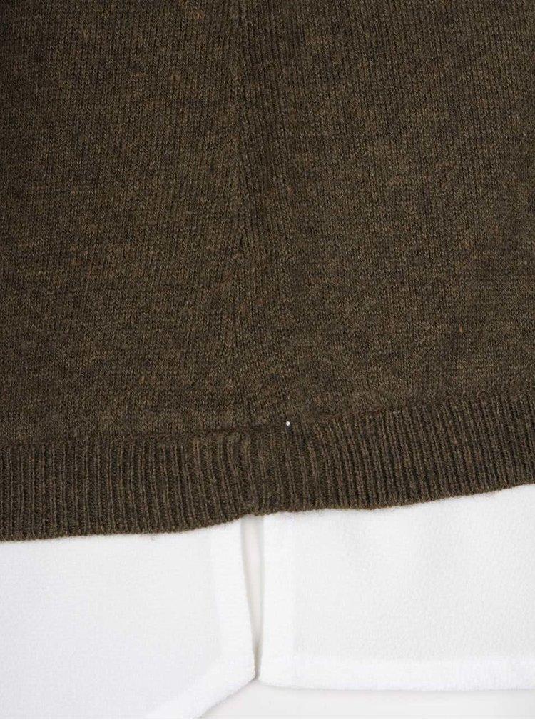 Khaki svetr s košilí 2v1 Dorothy Perkins