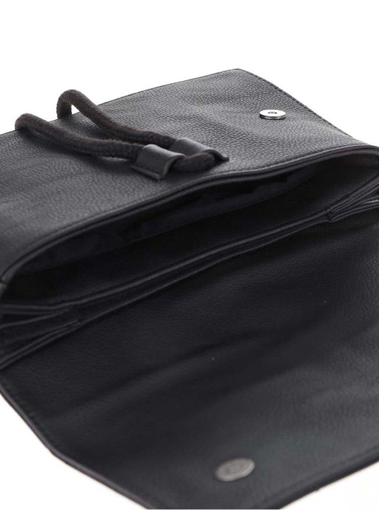 Čierna listová kabelka so zaväzovaním Bench Liberated