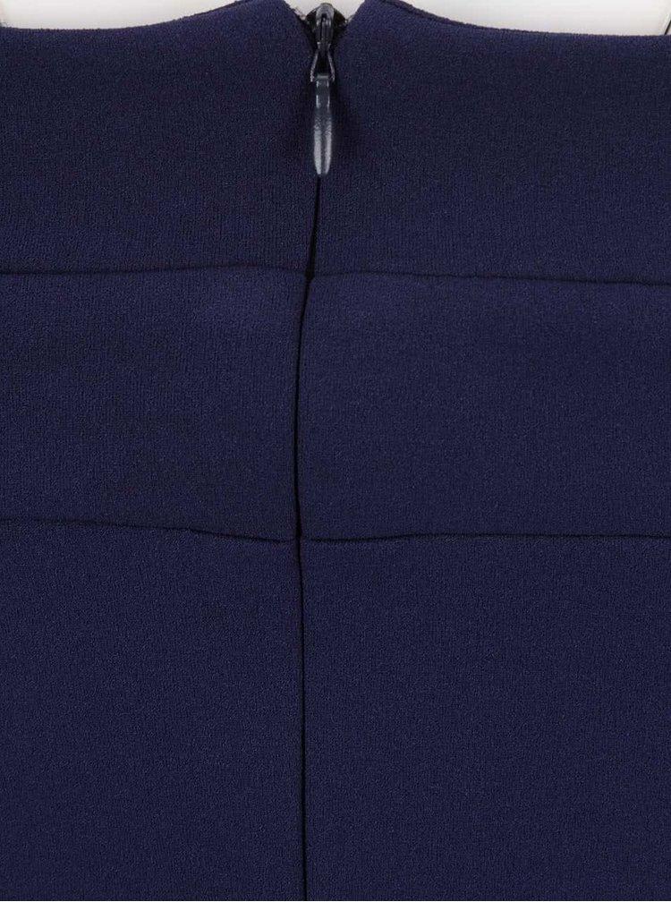 Tmavě modré šaty s průstřihy na ramenou Goddiva