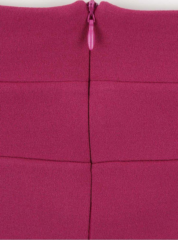 Růžové šaty s průstřihy na ramenou Goddiva