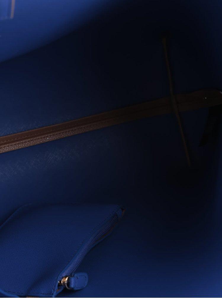 Světle hnědý shopper s modrými detaily Dorothy Perkins