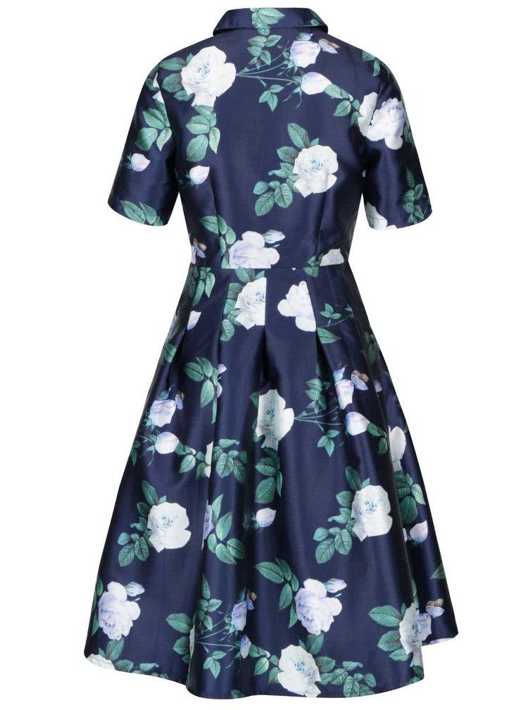 Rochie albastră Chi Chi London cu model