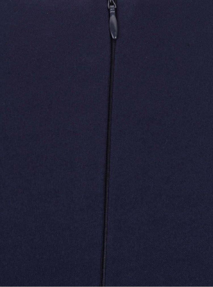 Rochie albastru închis Goddiva cu detaliu suprapus