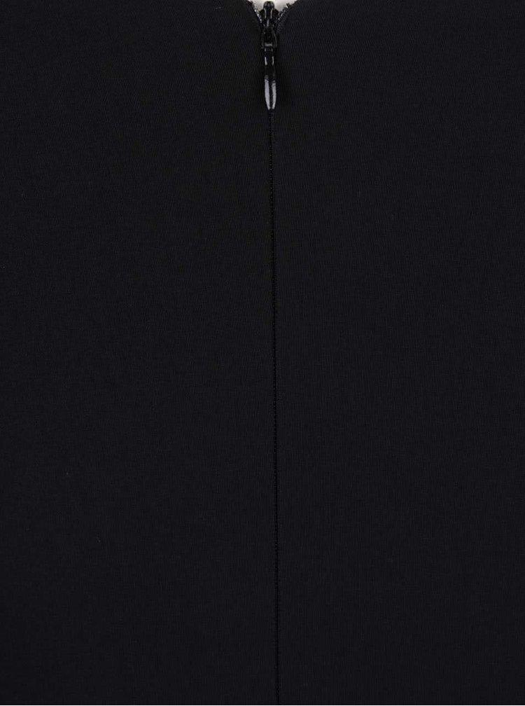 Černé šaty se skládaným výstřihem Goddiva