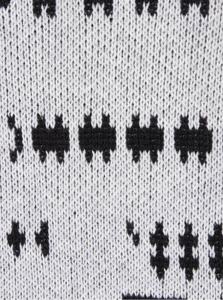Světle šedý vzorovaný svetr ONLY & SONS Crofton