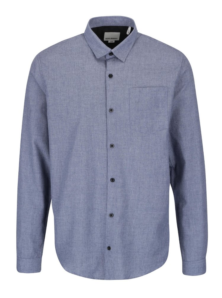 Svetlomodrá melírovaná košeľa Shine Original