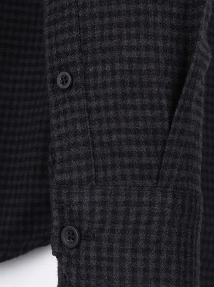 Sivo-čierna kockovaná košeľa Shine Original