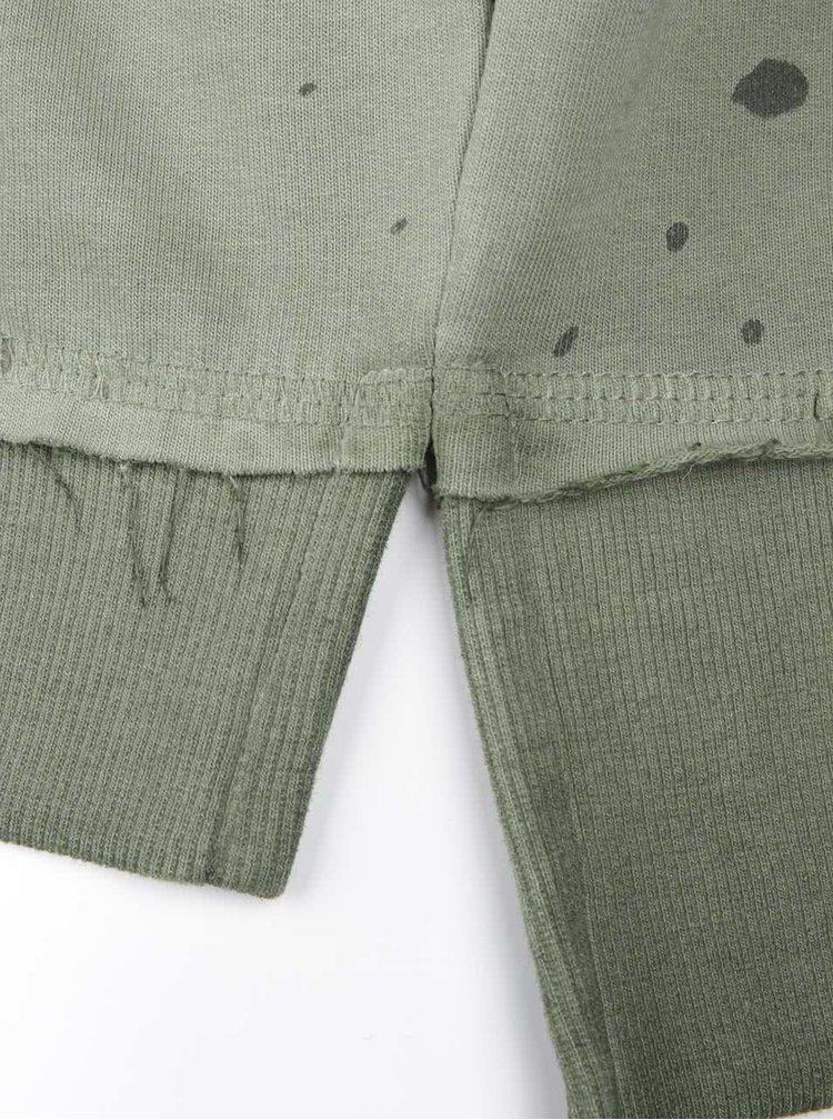 Zelená vzorovaná mikina bez kapuce ONLY & SONS Jefrey