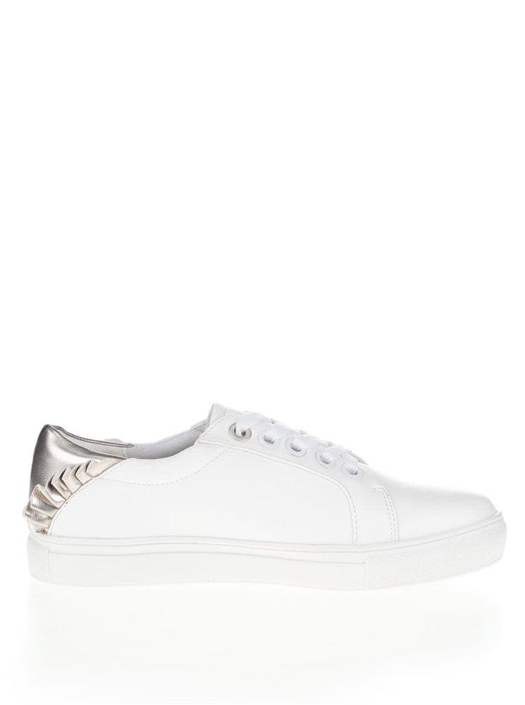 Pantofi sport albi cu detalii argintii Dorothy Perkins