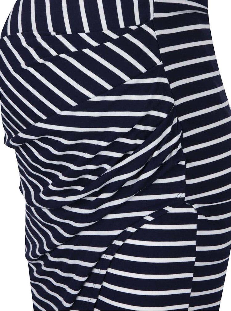 Krémovo-modrá těhotenská pruhovaná sukně Dorothy Perkins Maternity