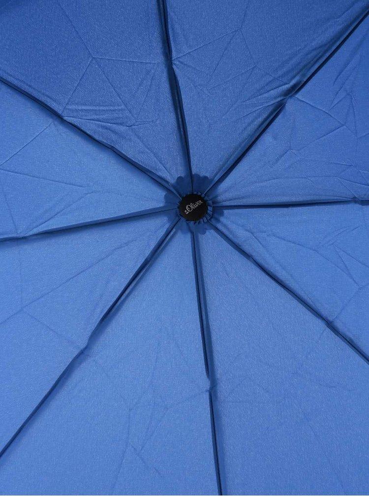 Modrý dámský skládací deštník s.Oliver