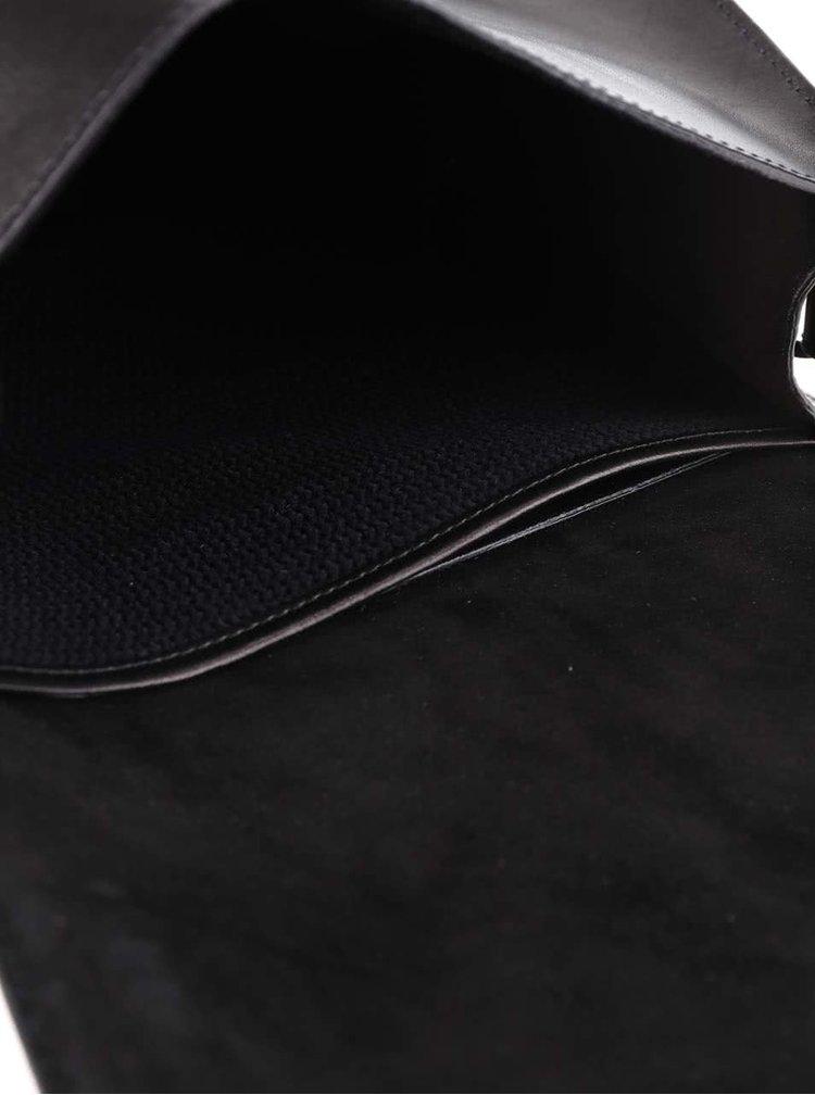 Čierna kožená crossbody kabelka No.66 Vagabond