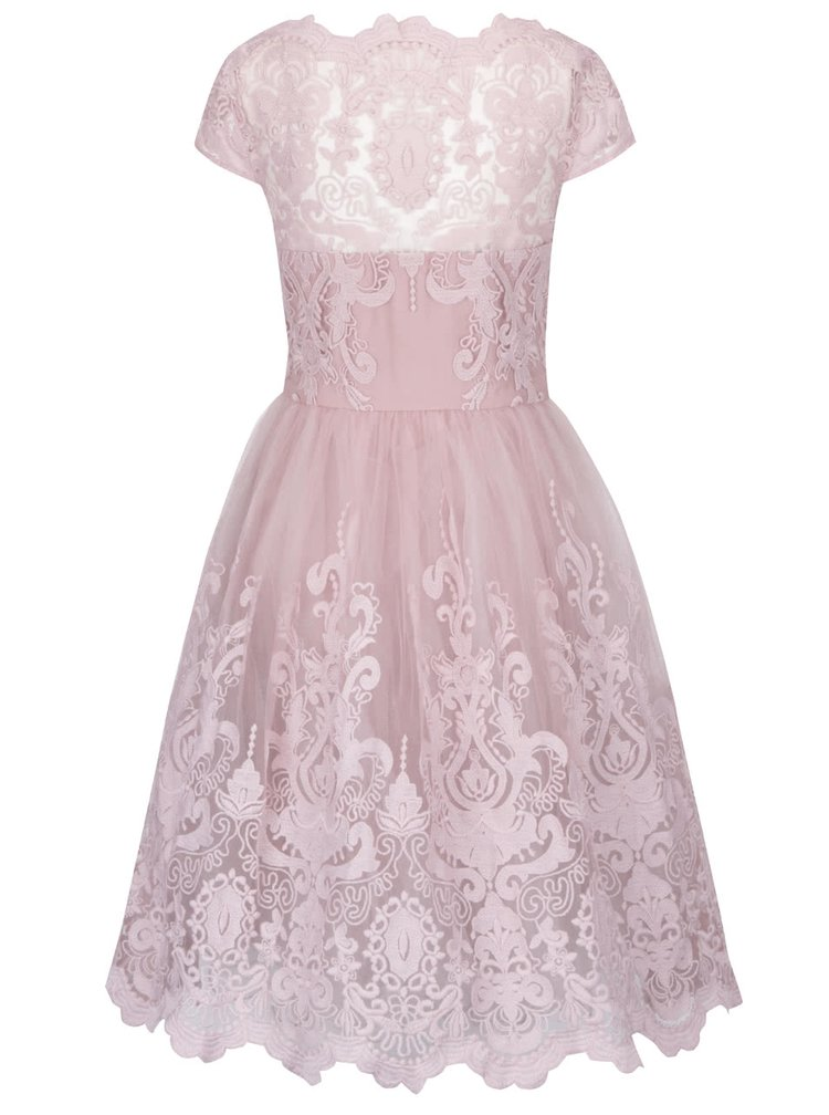 Starorůžové šaty s krajkovým topem Chi Chi London