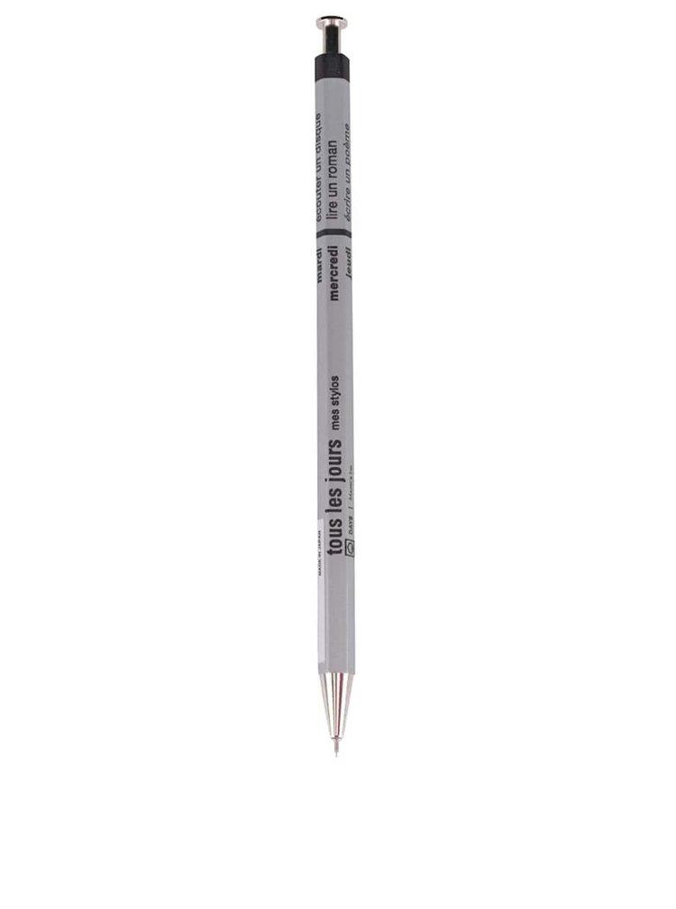 Stříbrné kuličkové pero s textem Mark's Days