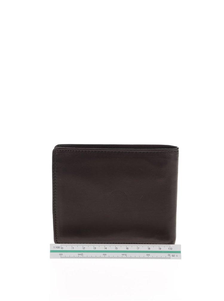 Hnědočerná pánská kožená peněženka GANT