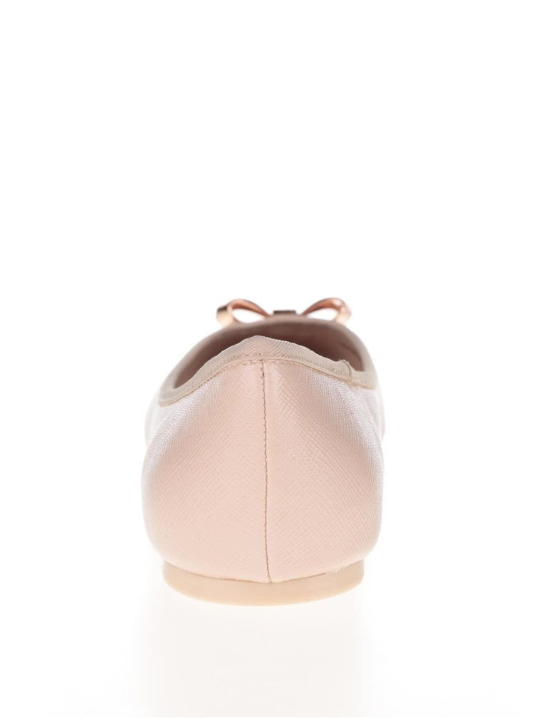 Růžové  baleríny s mašlí Ted Baker Imme