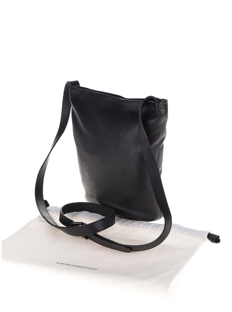 Černá kožená crossbody kabelka No. 82 Vagabond
