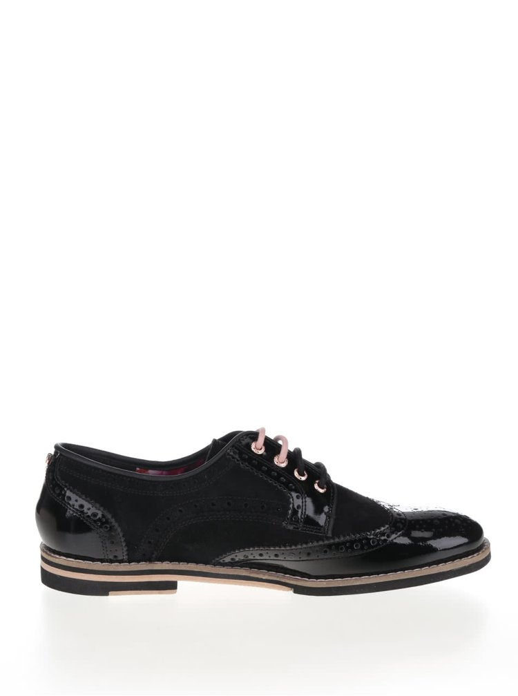 Pantofi Oxford negri Ted Baker Anoihe din piele