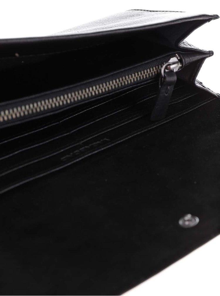 Čierna kožená peňaženka No. 22 Vagabond