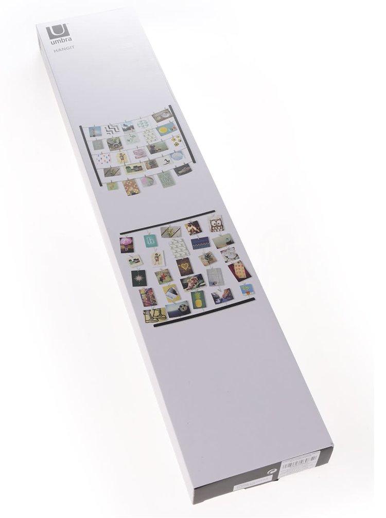 Černý závěsný systém na fotky Umbra Hangit