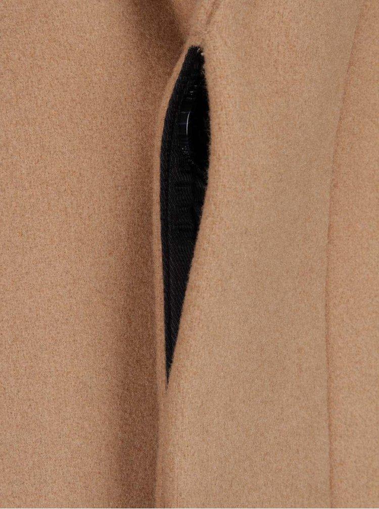 Světle hnědý vlněný kabát Selected Homme New Brook