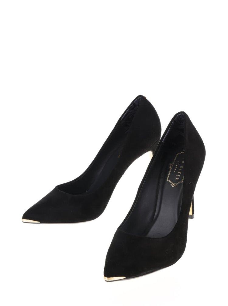 Pantofi negri din piele întoarsă Ted Baker Neevo