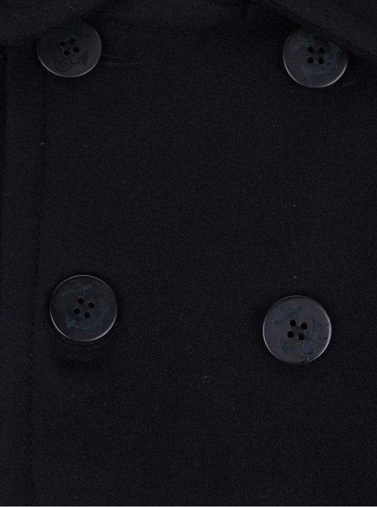 Tmavě modrý pánský vlněný kabát Superdry