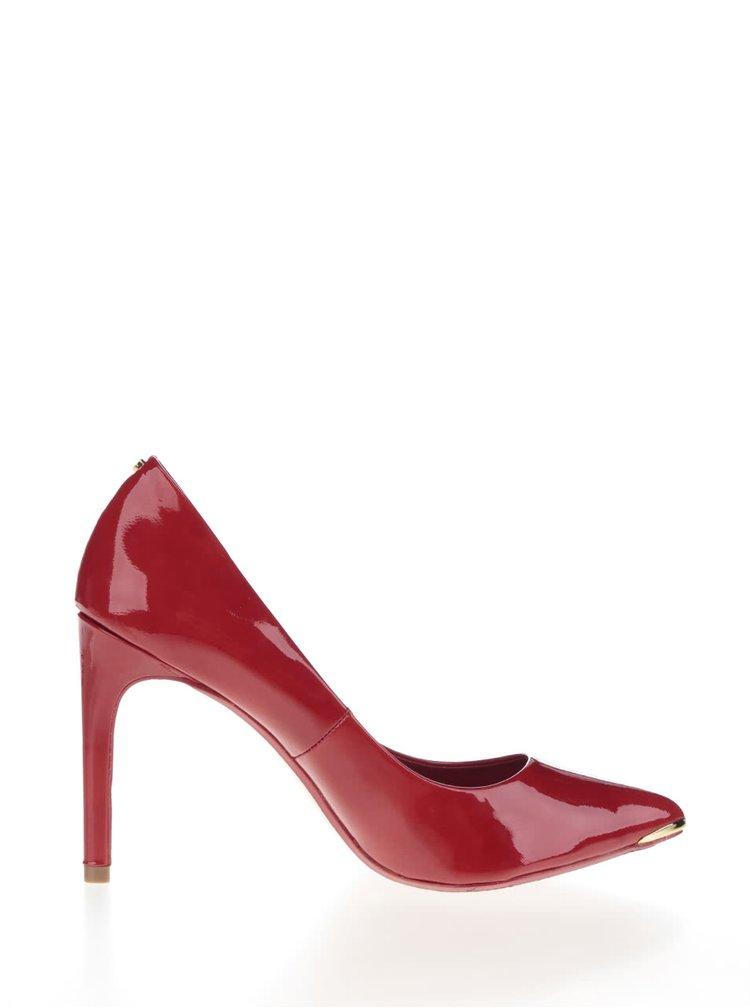 Pantofi rosii din piele, cu aspect lacuit Ted Baker Neevo