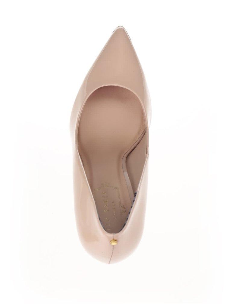 Pantofi bej din piele, cu aspect lăcuit Ted Baker Neevo