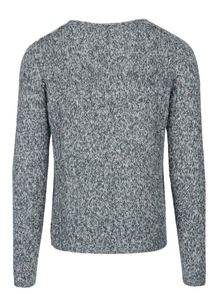 Krémovo-zelený melírovaný sveter ONLY & SONS Cylar