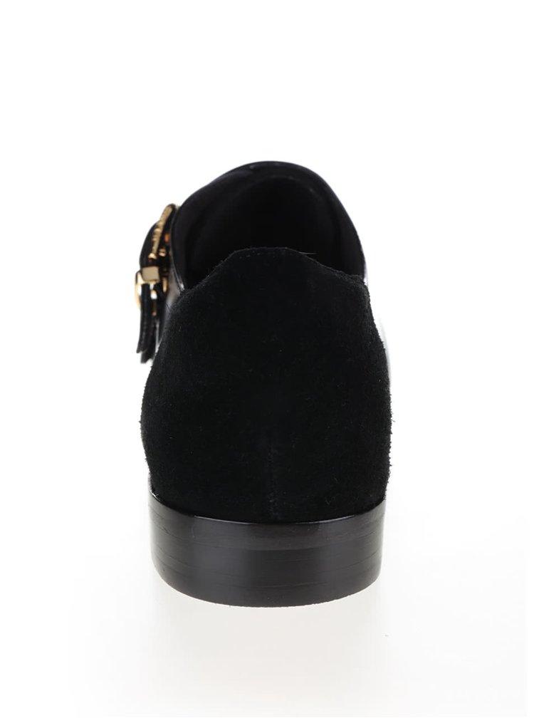 Černé kožené polobotky Ted Baker Naoi