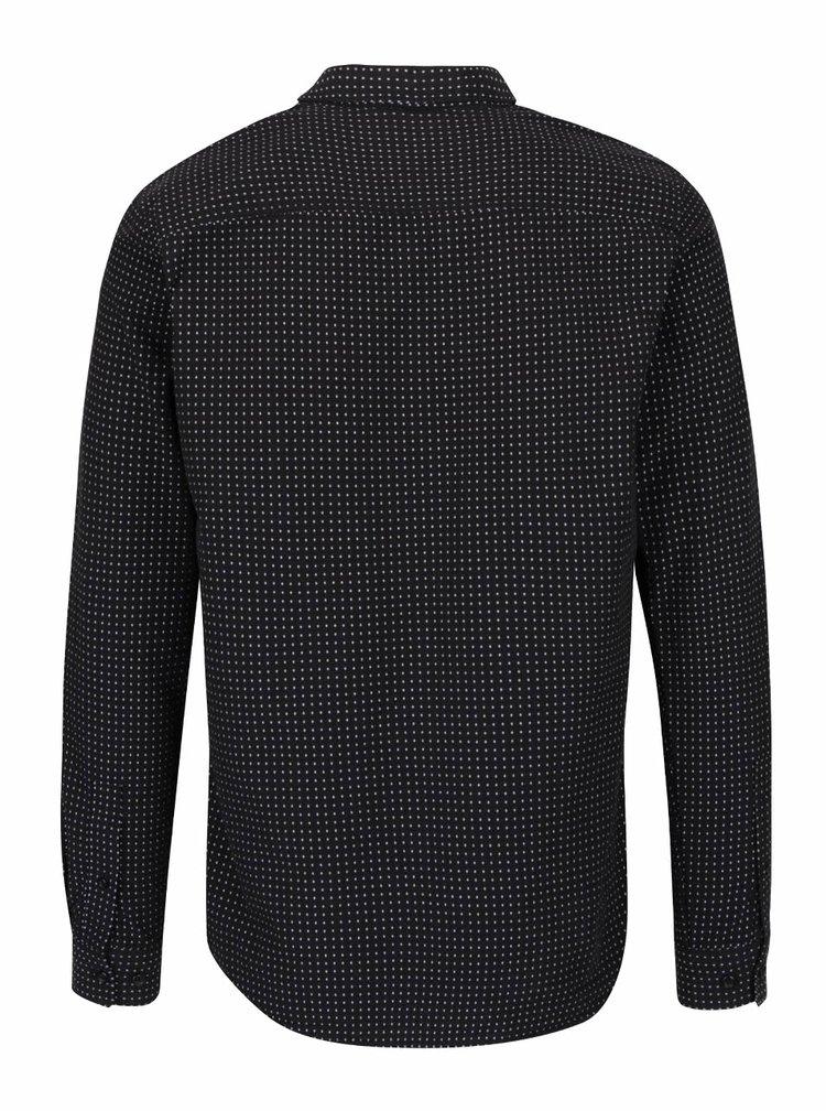 Černá neformální vzorovaná košile Selected Homme Jaquard
