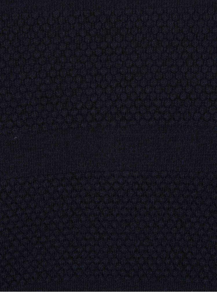 Tmavomodrý sveter s gombíkmi Jack & Jones