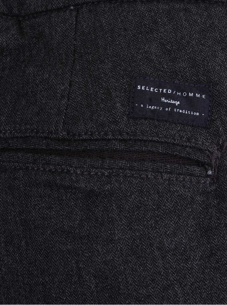 Pantaloni gri inchis Selected Homme Wulf