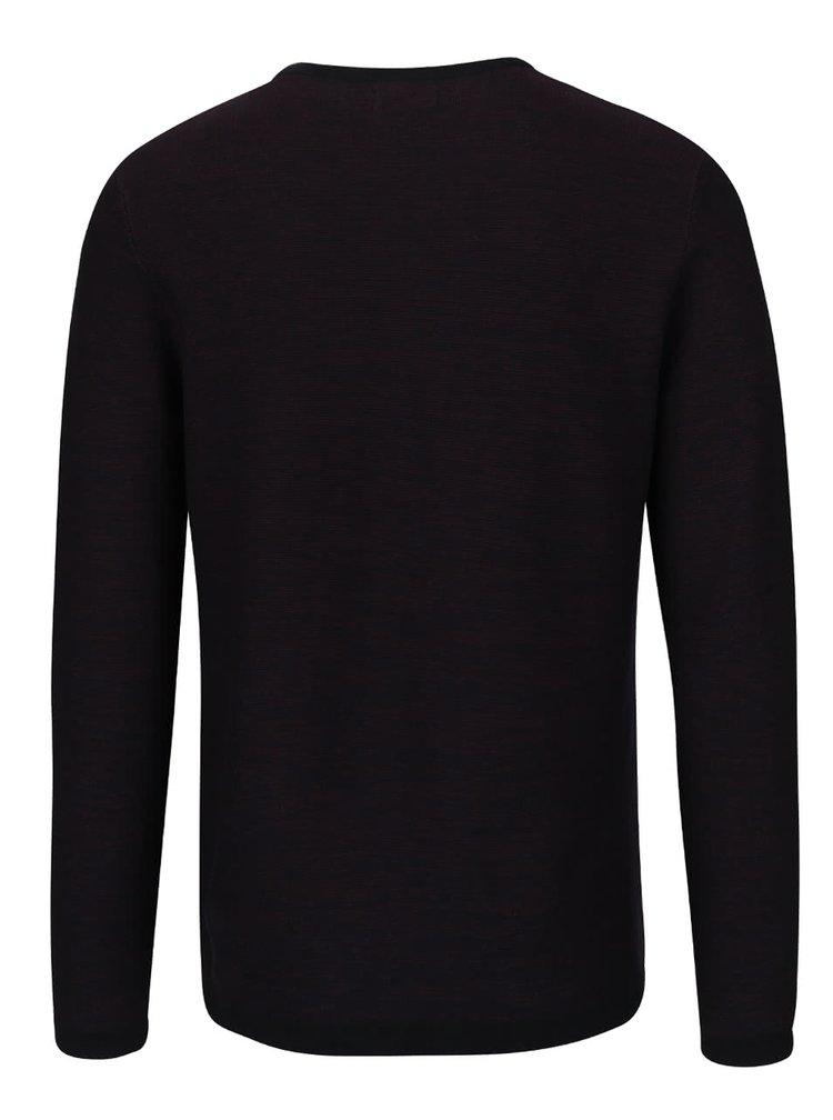 Vínovo-černý pánský lehký svetr Jack & Jones
