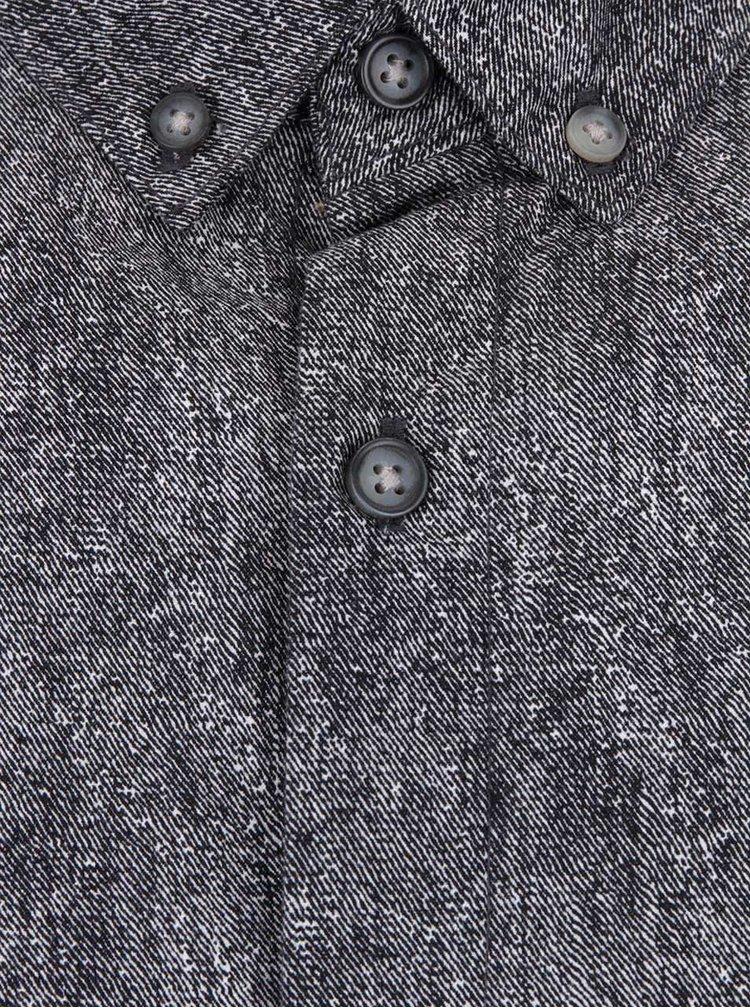 Tmavosivá melírovaná košeľa ONLY & SONS Broker