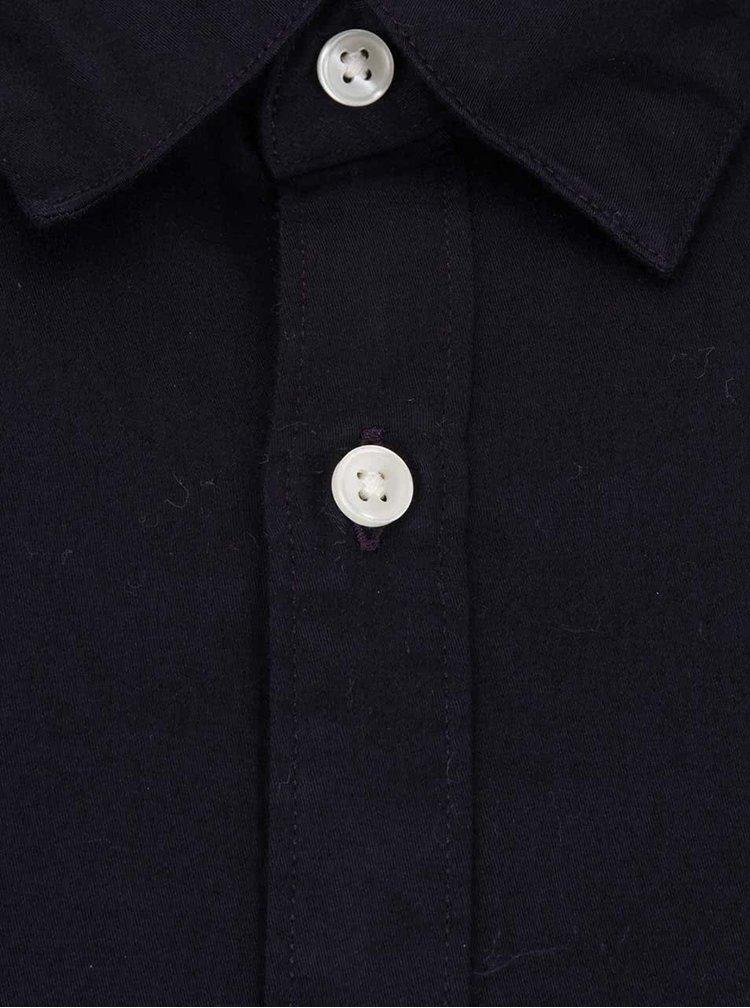 Tmavě modrá košile se vzorovanou podšívkou Jack & Jones