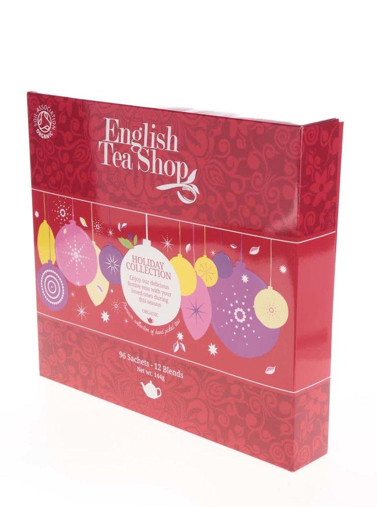 Červená dárková kazeta čajů English Tea Shop Ozdoby