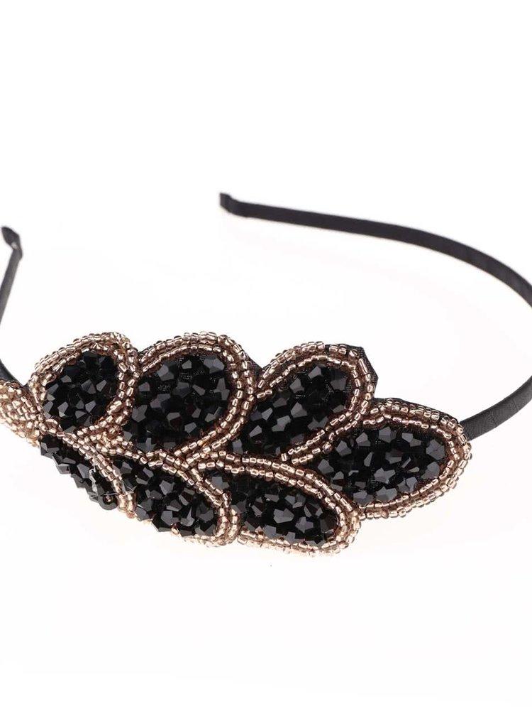 Cordeluță neagră name it Acc-Ella cu detalii aurii