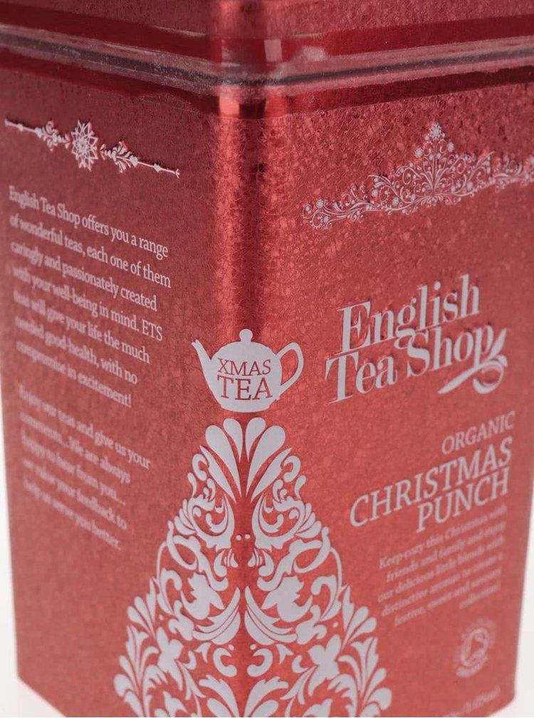 Červená plechovka čajů English Tea Shop Vánoční punč