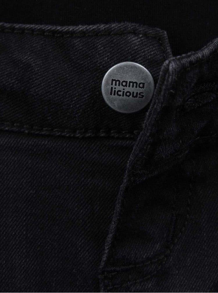 Černé těhotenské džíny Mama.licious Row