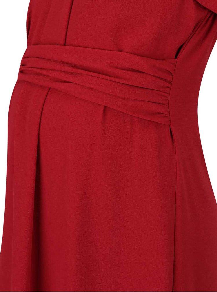 Rochie roșie Mama.licious Layla cu mâneci medii