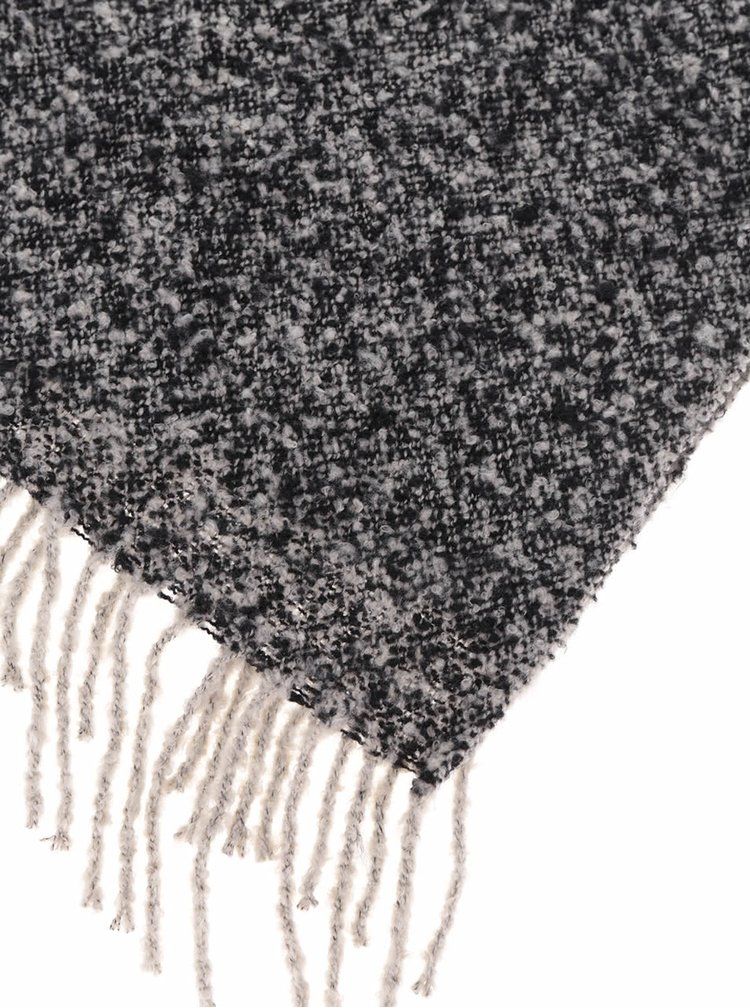 Černo-šedá žíhaná šála Pieces Pacific