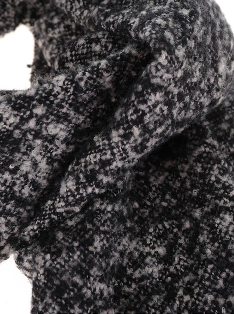 Fular negru cu gri Pieces Pacific