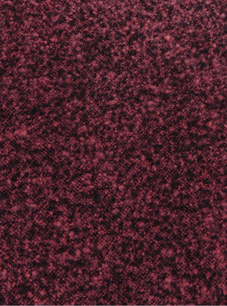 Růžovo-černá žíhaná šála Pieces Pacific