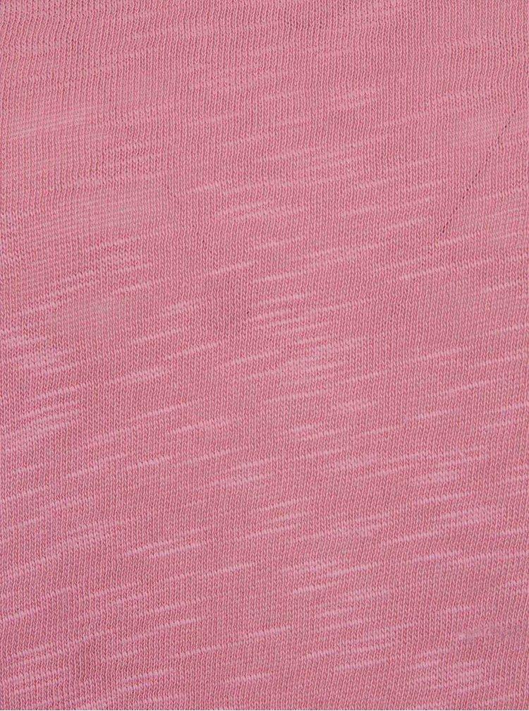 Bluza roz ONLY Casa cu maneci 3/4