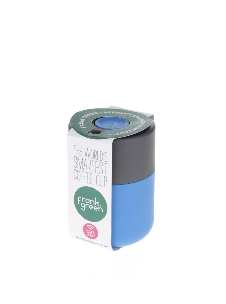 Modrý SmartCup s šedým víčkem Frank Green 230 ml