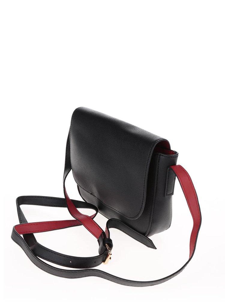 Černá menší crossbody kabelka Pieces Deena