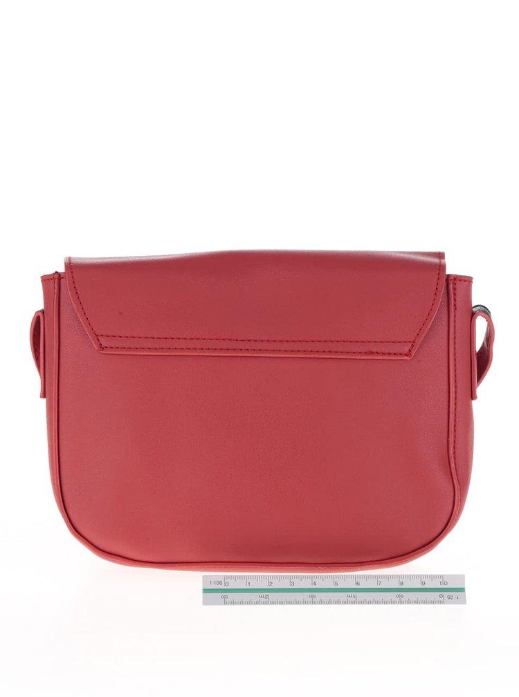 Červená menší crossbody kabelka Pieces Deena