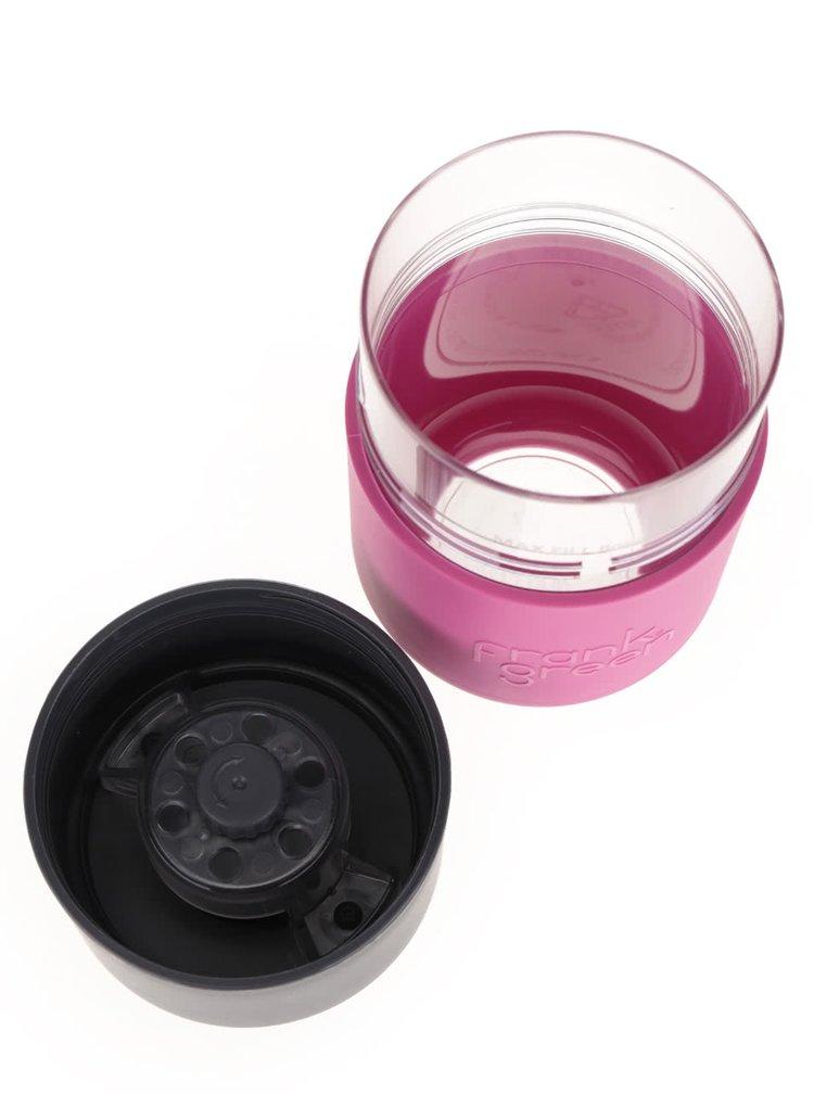 Růžový SmartCup s šedým víčkem Frank Green 230 ml